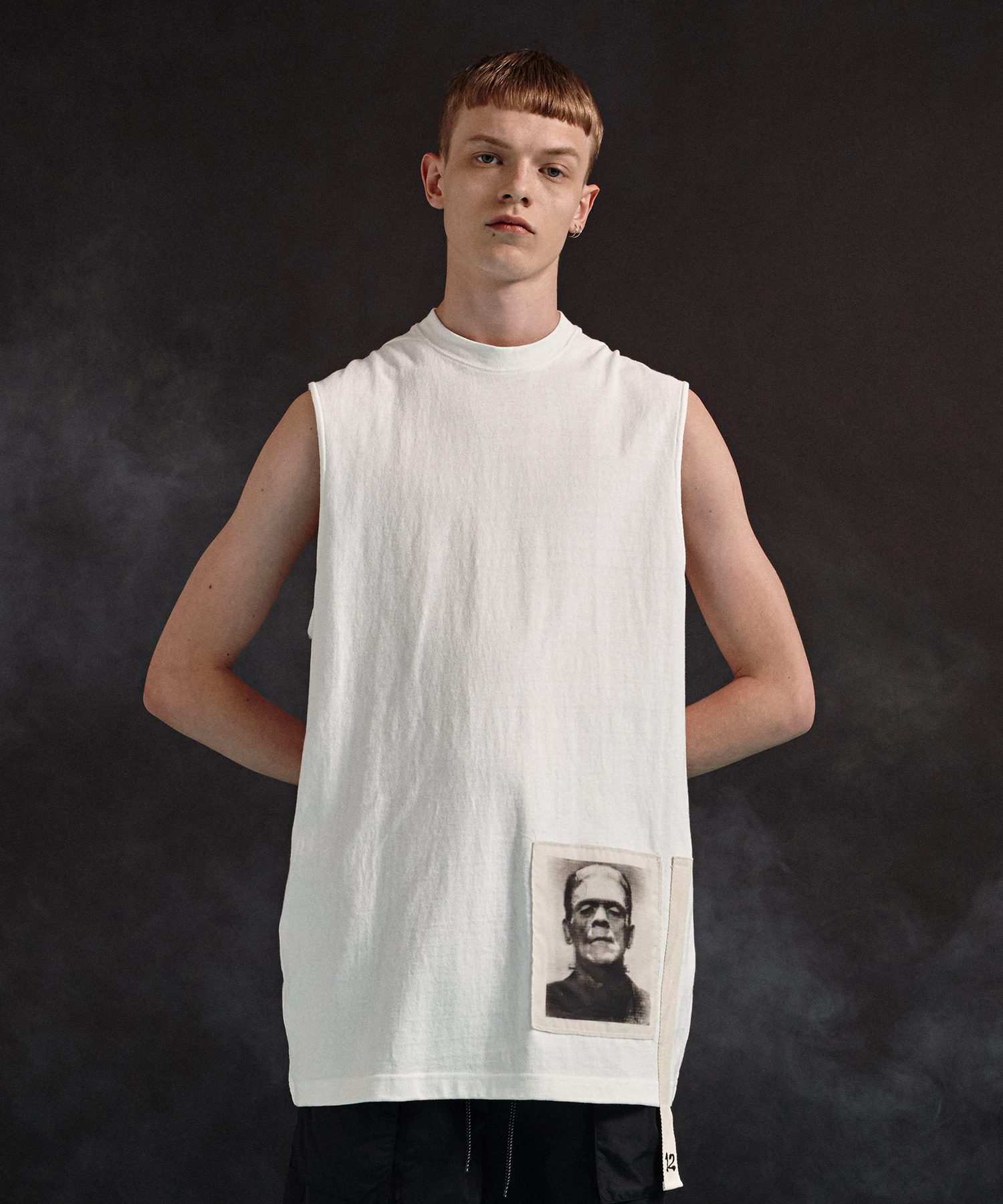 [19SS][50% 세일] Frankenstein Sleeveless T-Shirts (WH)