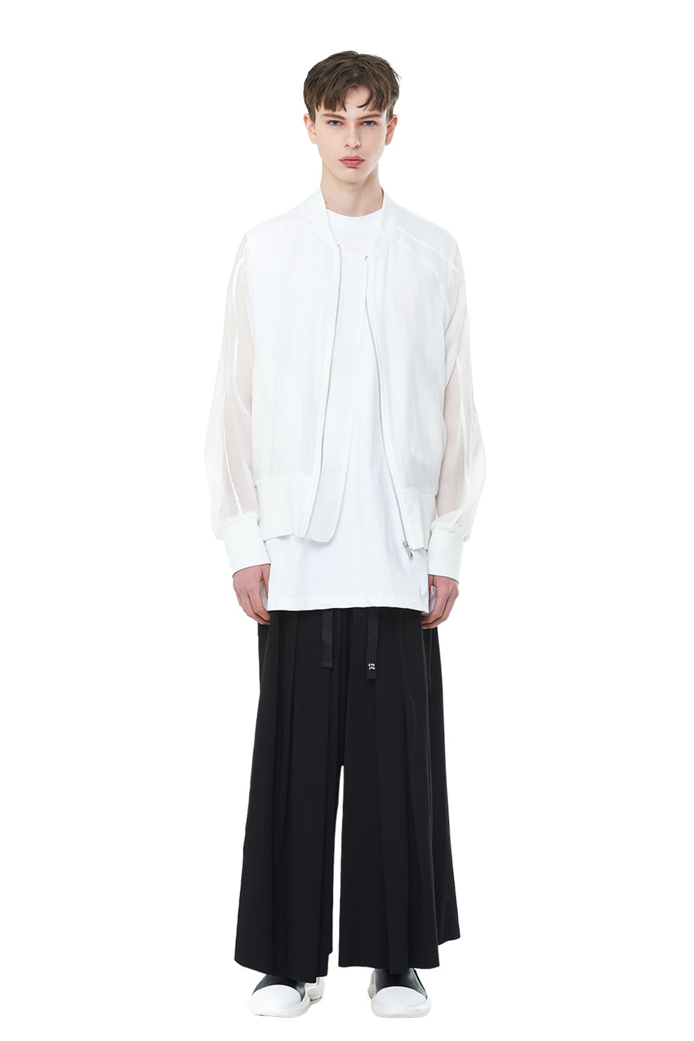 [20SS][40% SALE] See-through Oversize MA-1 (WH)_ PA1JP0404