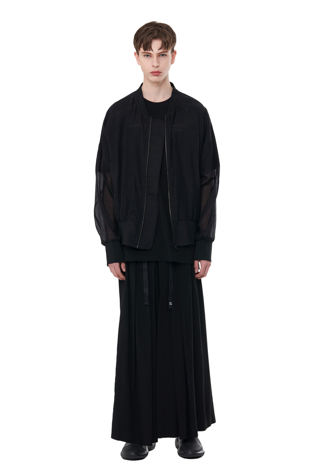 [20SS][40% SALE] See-through Oversize MA-1 (BK)_ PA1JP0303
