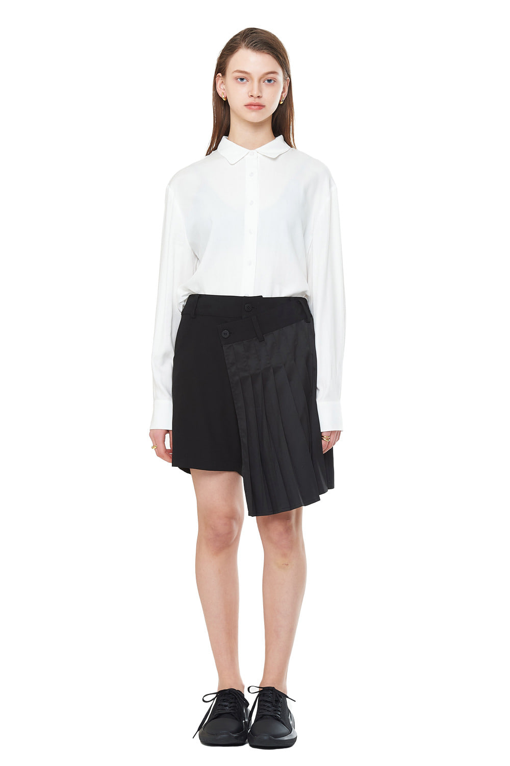 [20SS][20% SALE] Pleats Short Skirt Pants_ W01PA0303