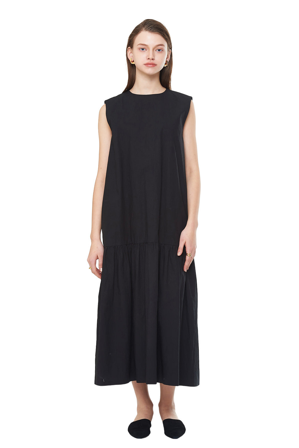[20SS][20% SALE] Shirring Sleeveless Long One-piece_ W01OP0202