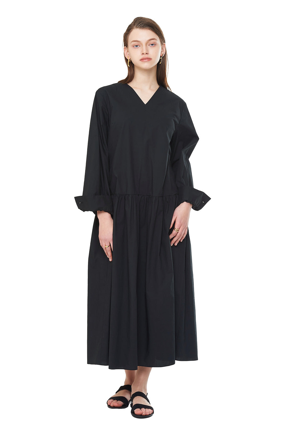 [20SS][20% SALE] V-Neck Oversize Long One-piece_ W01OP0404