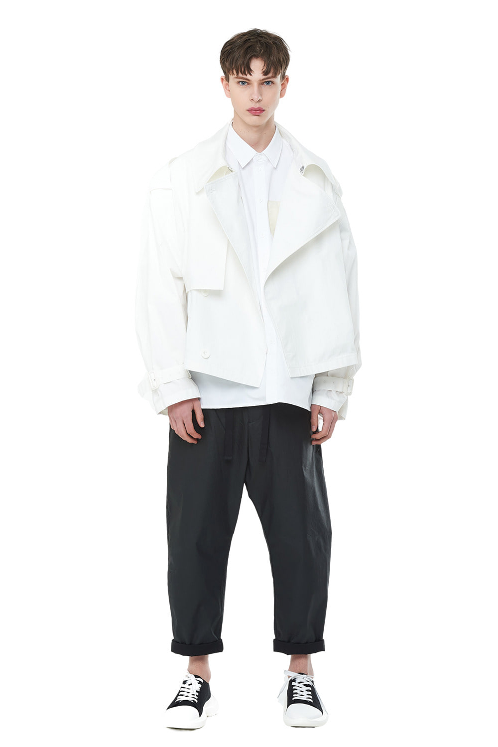 [20SS][40% SALE] Overfit Short Trench Coat (WH)_ PA1JP0606